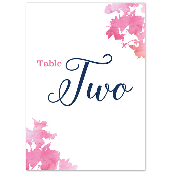 Blossom table numbers