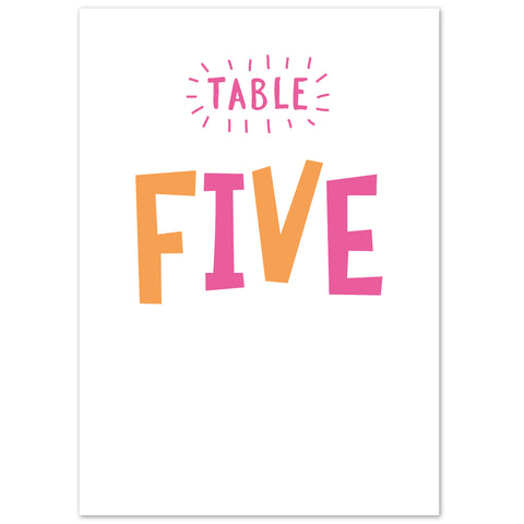 Charlie Table numbers