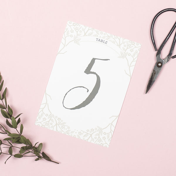 Enchanted Forest table numbers