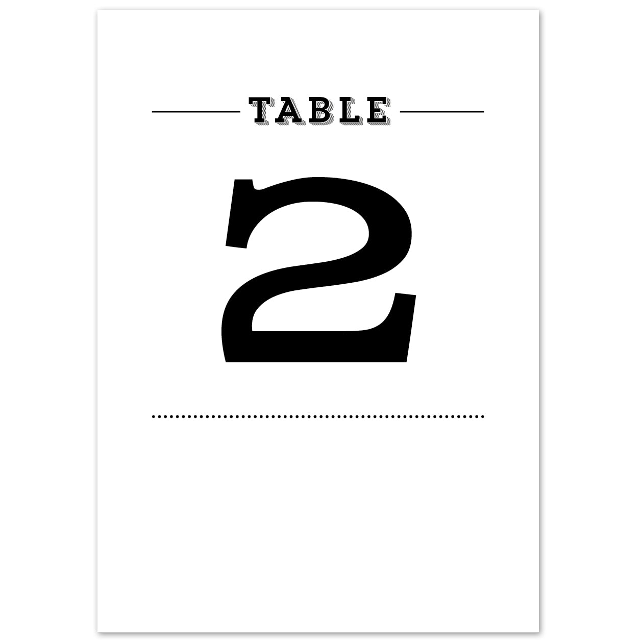 Frankie Vintage Table numbers