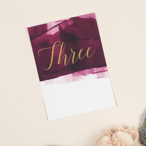 Grace table numbers