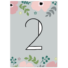 Poppy table numbers