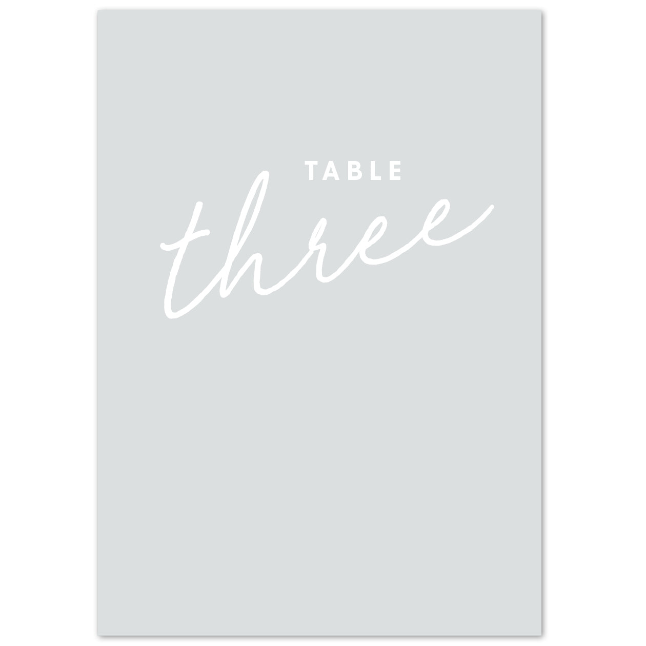 Rachel table numbers