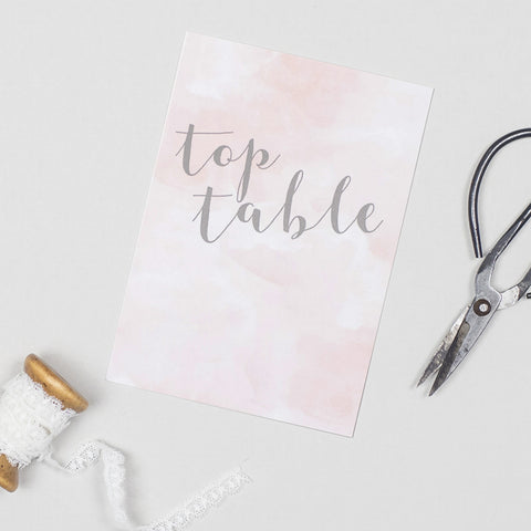 Romance table numbers