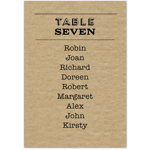 Frankie table plan cards