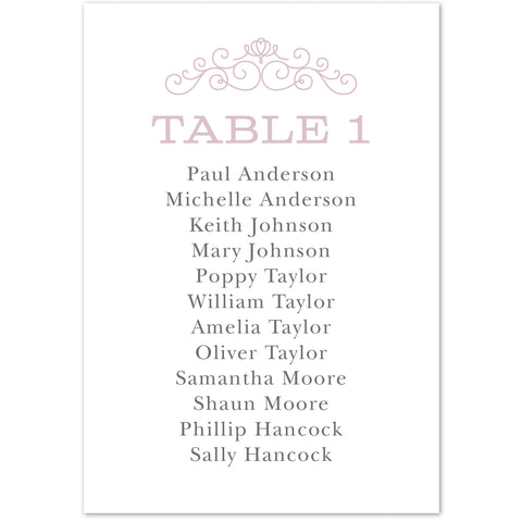 Eva table plan cards