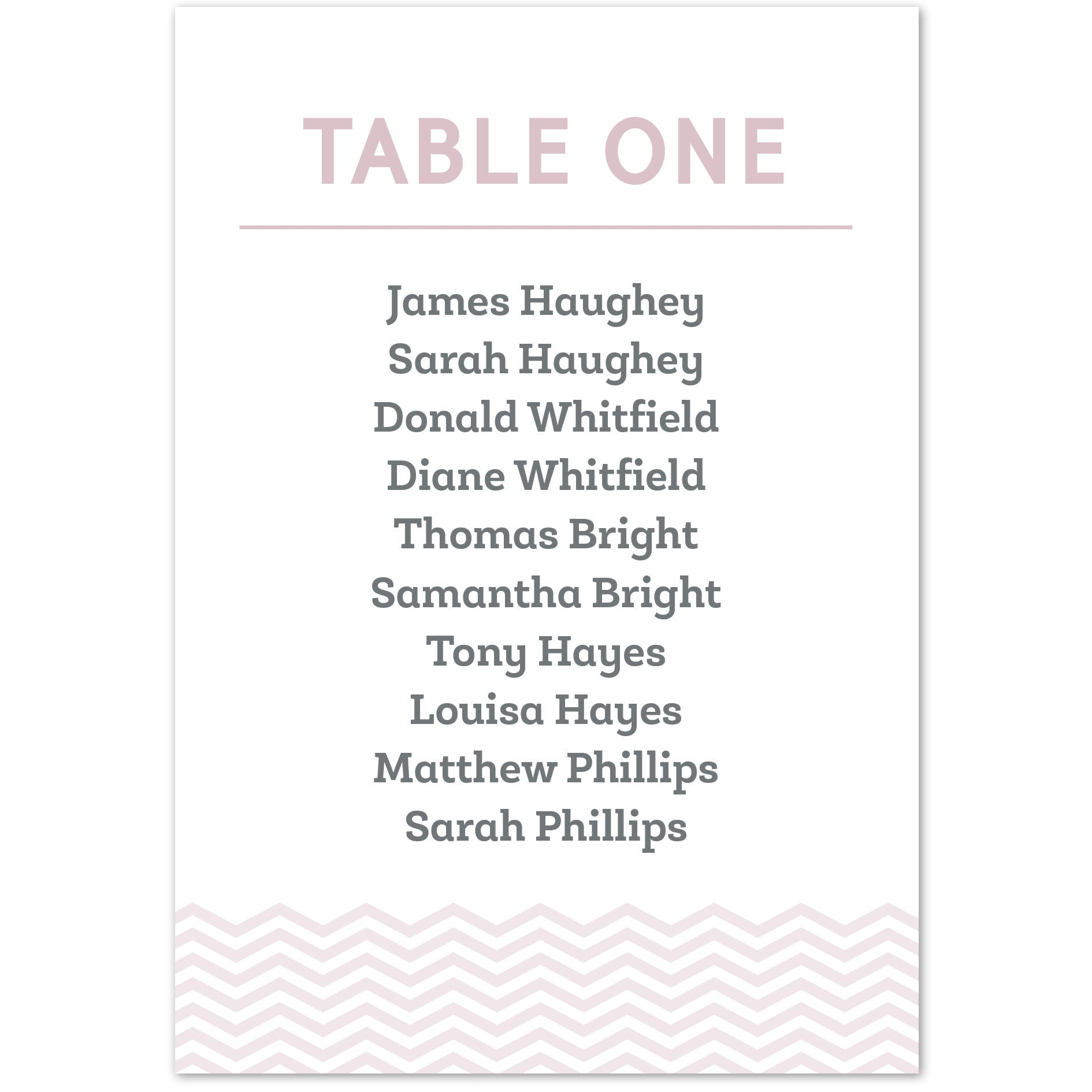 Zara table plan cards