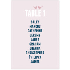 Amy table plan cards