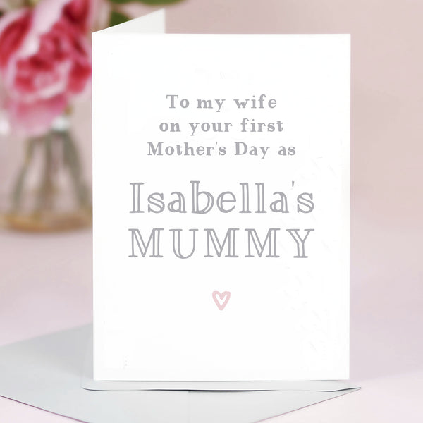Wife First Mother's Day Card