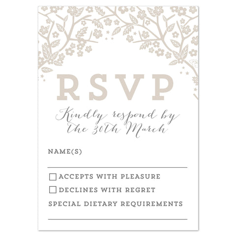 Enchanted Forest RSVP card