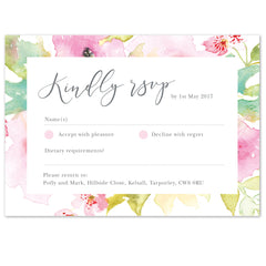 Juliette RSVP card