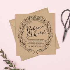 Enchanted Forest Kraft RSVP card