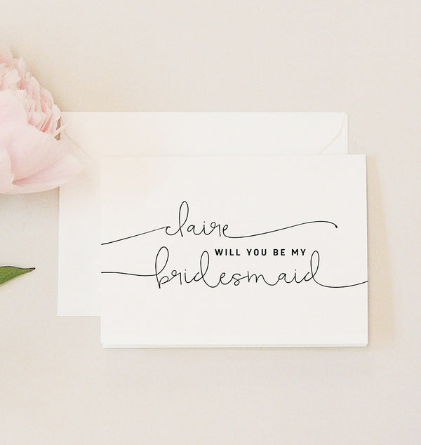 Kate Personalised 'Will You Be My Bridesmaid?' Card - Project Pretty  - 2
