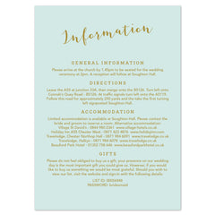 Mint Romance information card