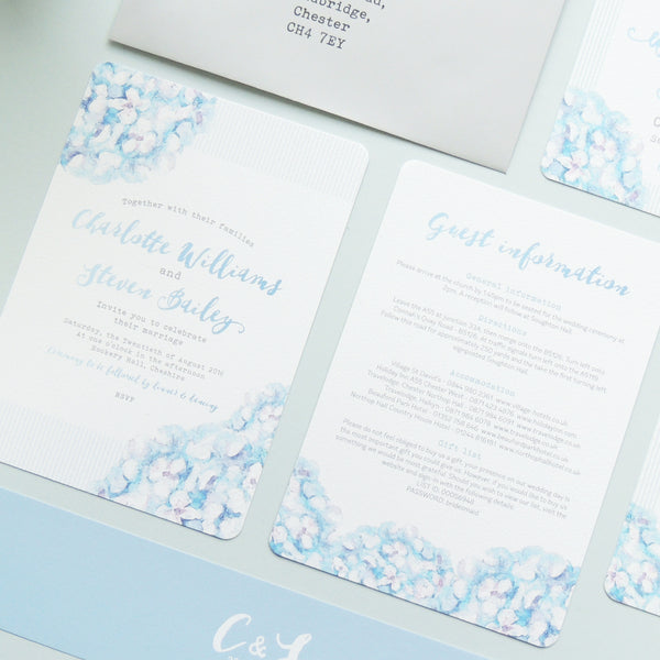 Hydrangea Blue information card