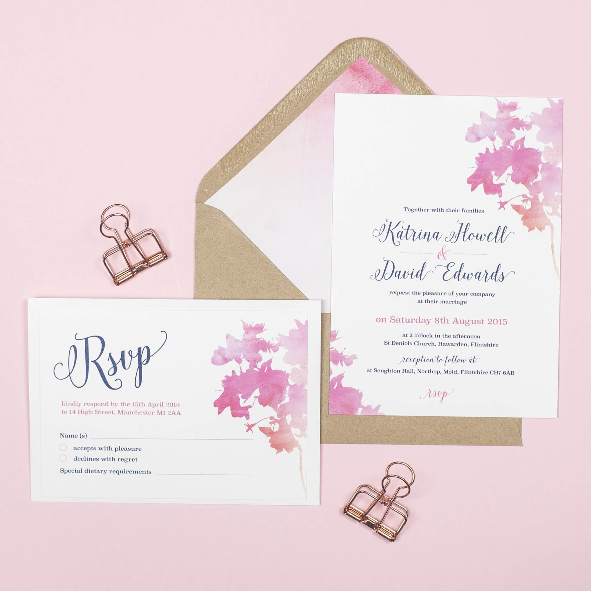 Blossom Wedding Invitation