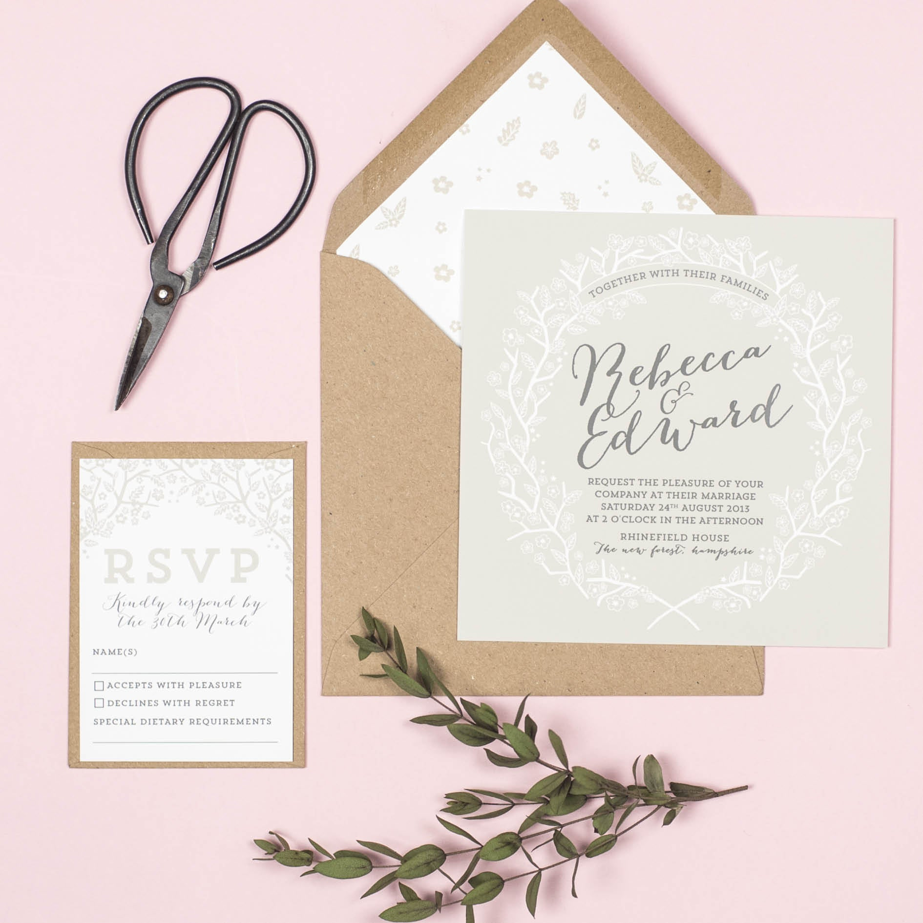 Enchanted Forest Wedding Invitation – Project Pretty