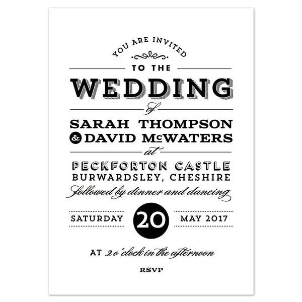 Frankie Vintage Wedding Invitation