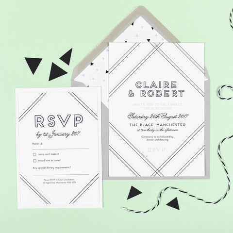 Geometric Wedding Invitation