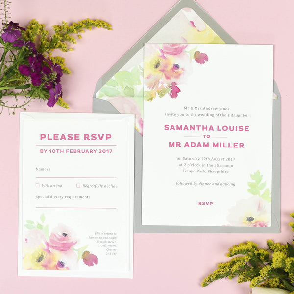 Lucy Wedding Invitation