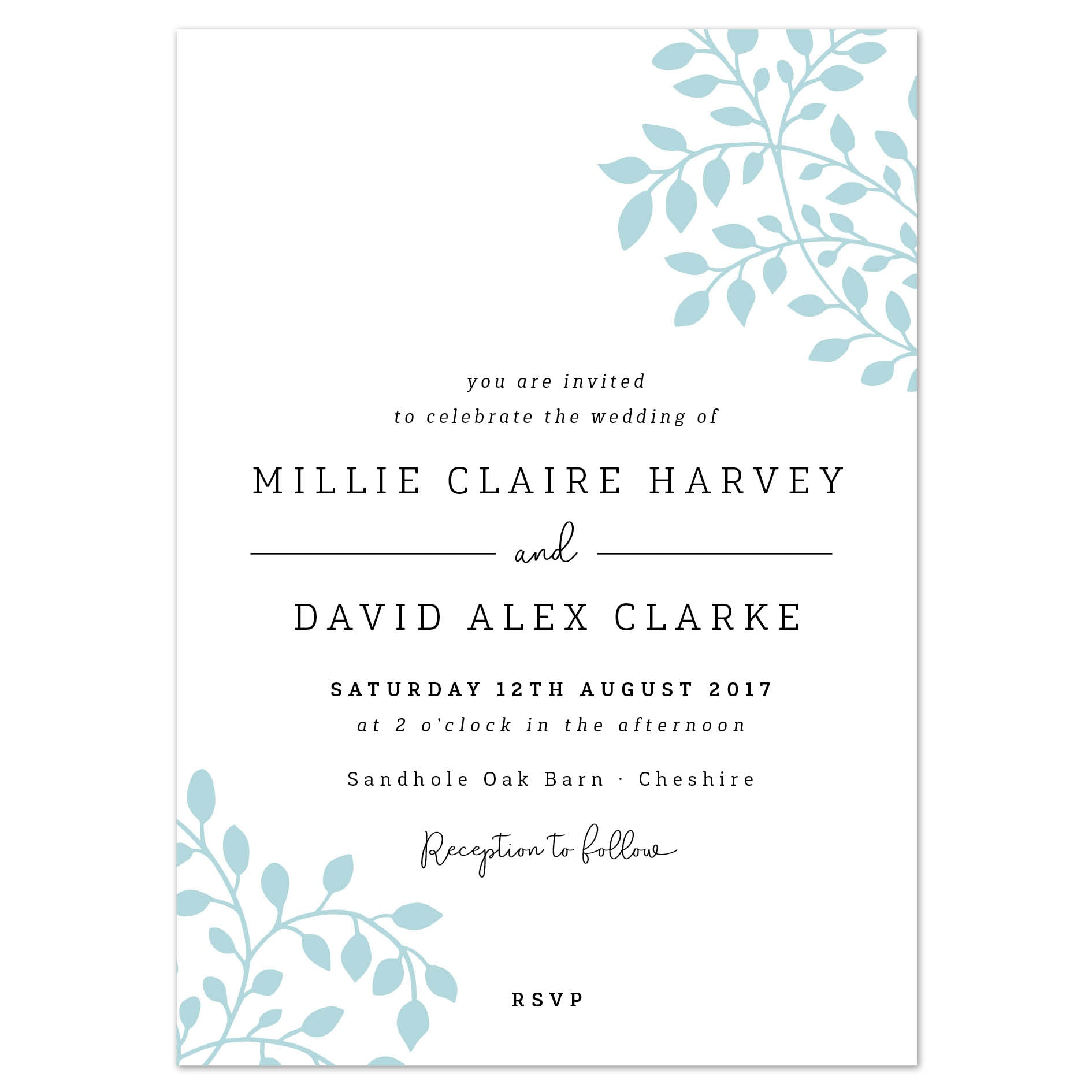 Alice Wedding Invitation