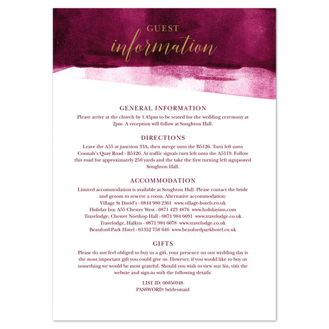Grace information card