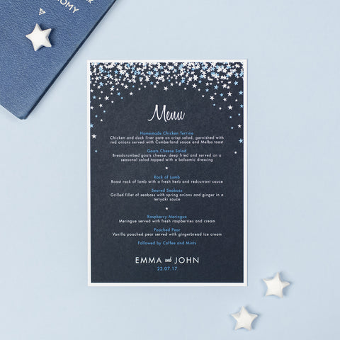 Bella Menu Cards