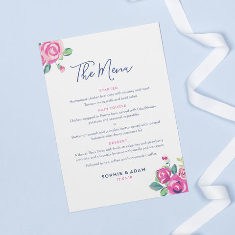 Adela Menu Cards