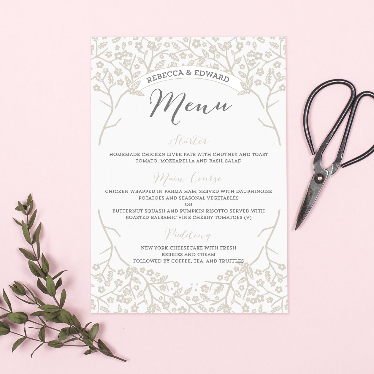 Enchanted Forest Menu Cards – Project Pretty