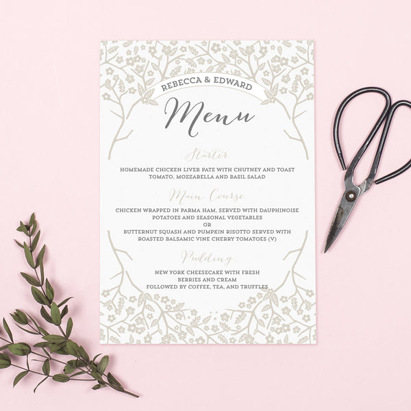 Enchanted Forest Menu Cards