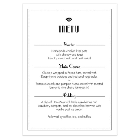 Estelle Menu Cards