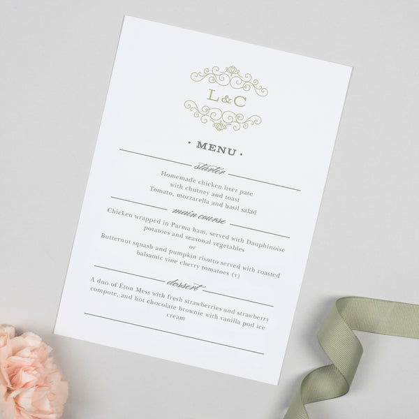 Eva Menu Cards