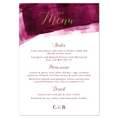 Grace Menu Cards