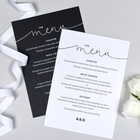 Kate Menu Cards