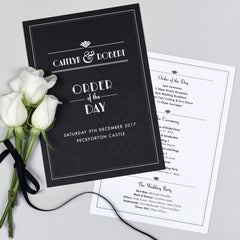 Estelle Wedding Order Of The Day Program Cards