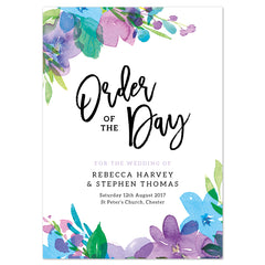 Harlow Wedding Order Of The Day Program Cards
