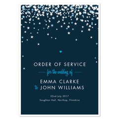 Bella Order of Service booklets