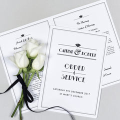 Estelle Order of Service booklets