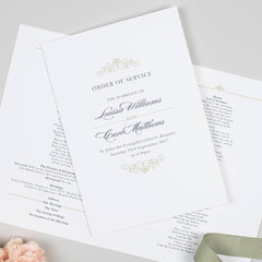 Eva Order of Service booklets