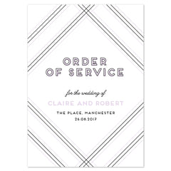 Geometric Order of Service booklets