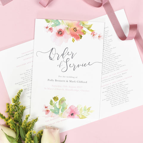 Juliette Order of Service booklets