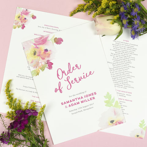 Lucy Order of Service booklets