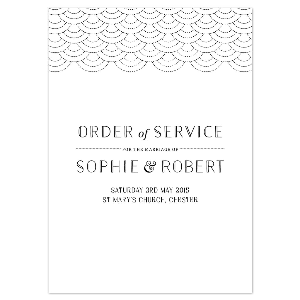 Millie Order of Service booklets