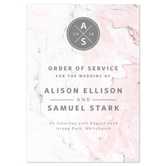 Marble Order of Service booklets