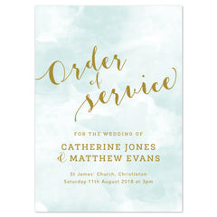 Mint Romance Order of Service booklets