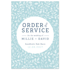 Alice Order of Service booklets