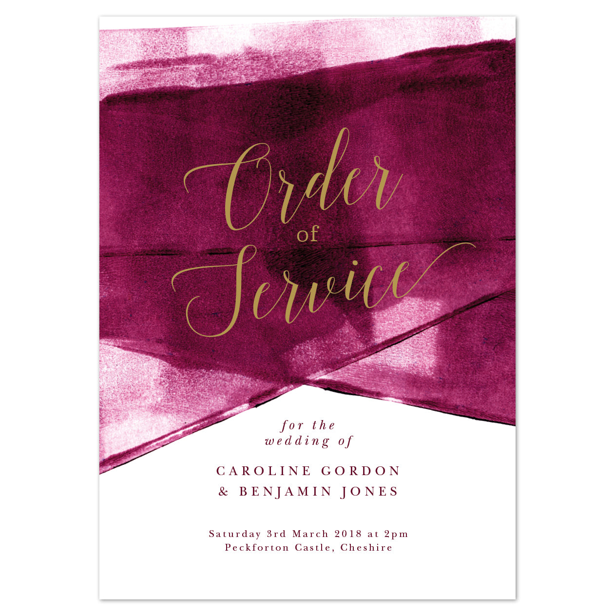 Grace Order of Service booklets