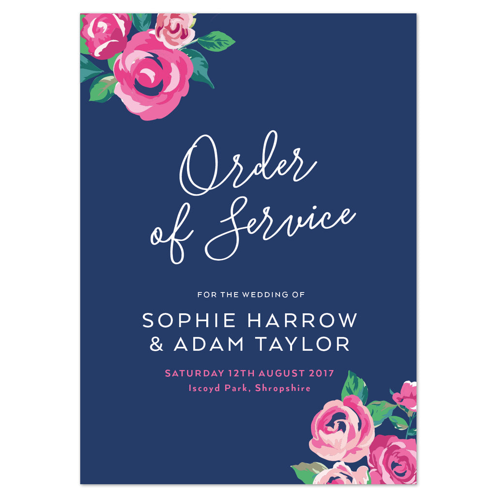 Adela Order of Service booklets