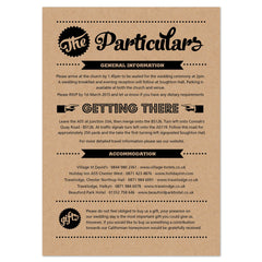 Retro Vintage Kraft information card