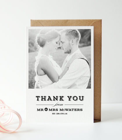 Frankie Wedding Photo Thank You Cards